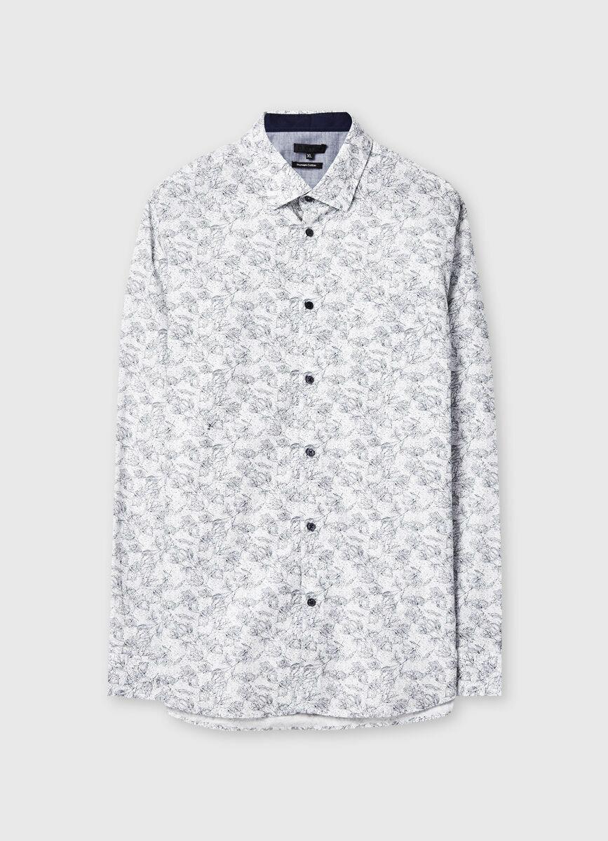 Рубашка с флоральным принтом