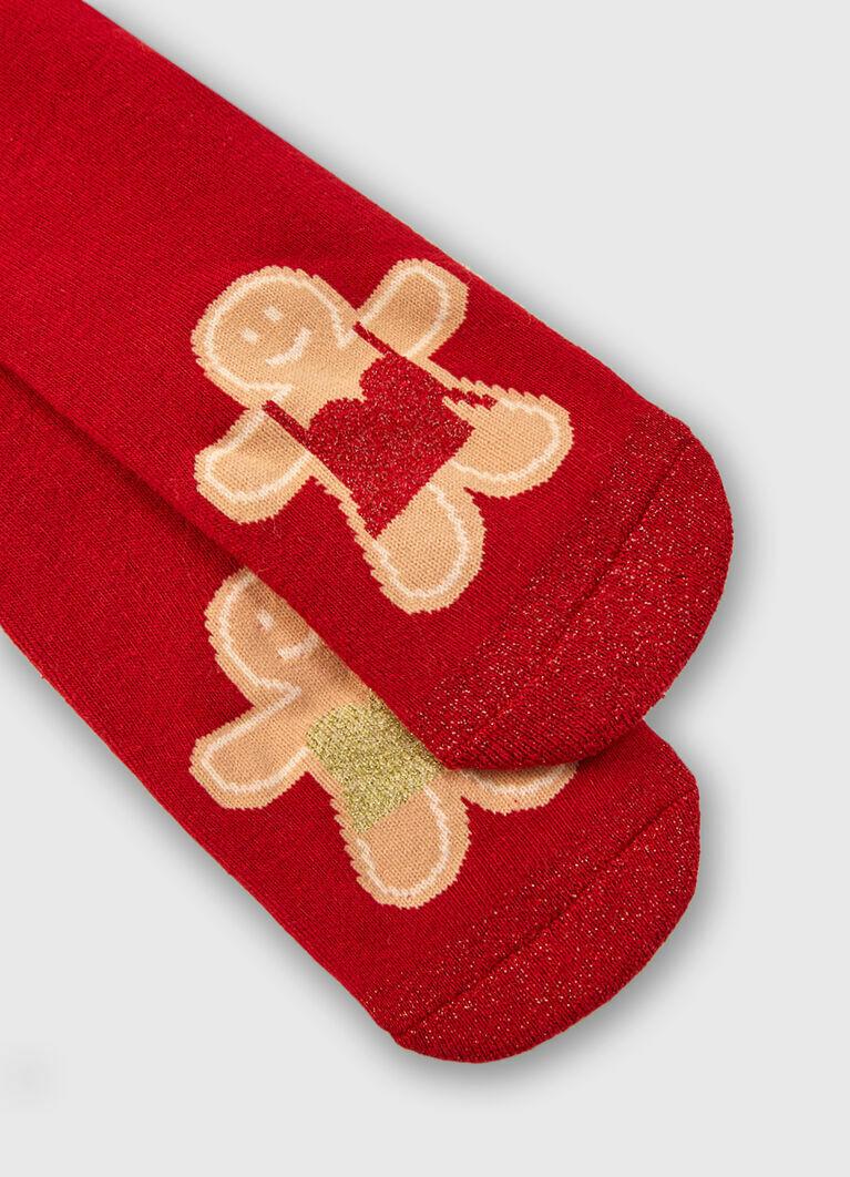 Махровые носки с жаккардом «печенье»
