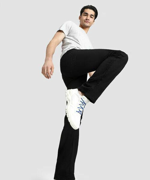 цены Прямые черные джинсы