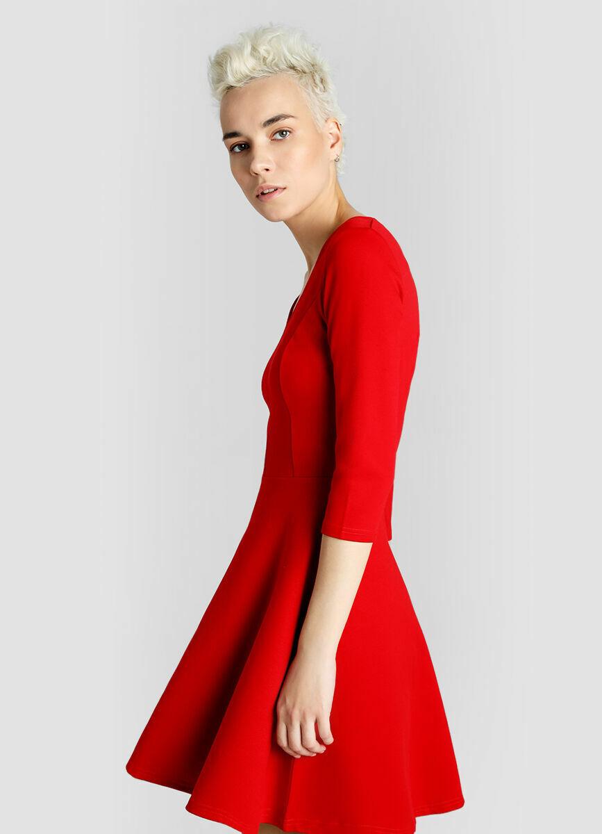 Трикотажное платье-скейтер