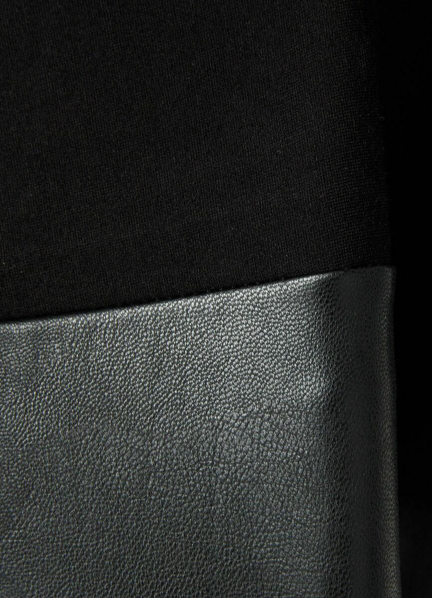 Треггинсы с полочкой из экокожи