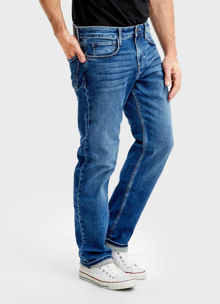 Комфортные прямые джинсы