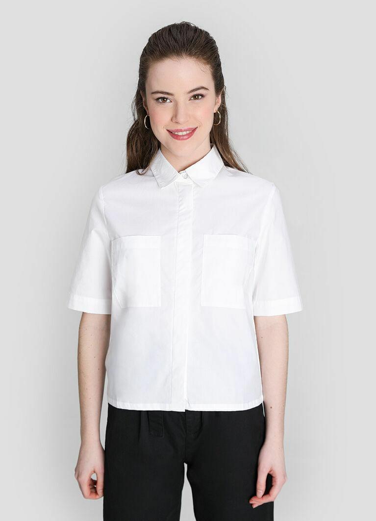 Укороченная хлопковая рубашка