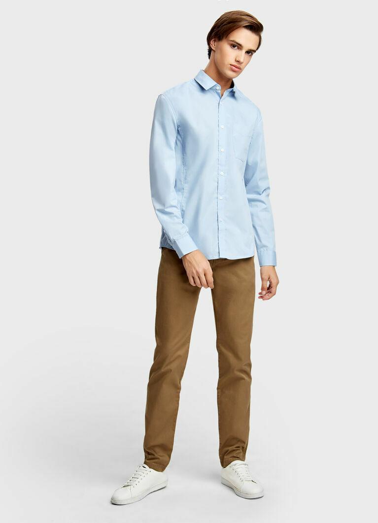 Однотонная рубашка