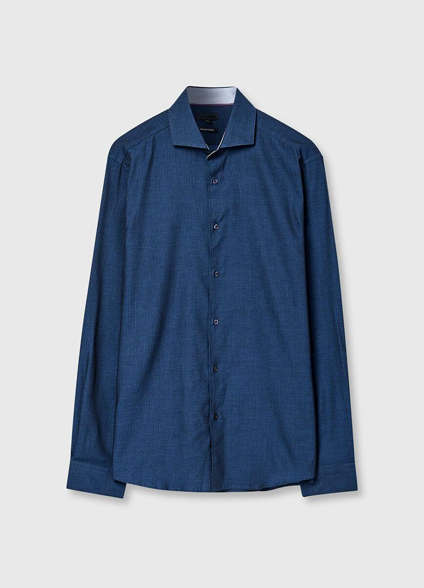 Рубашка с геометрическим жаккардом