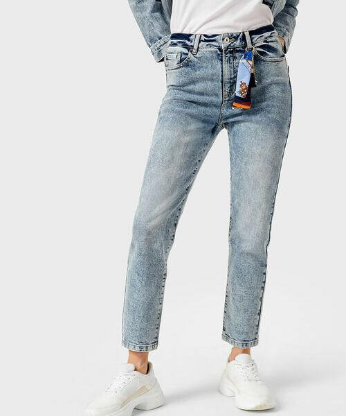 цена Прямые джинсы с завышенной талией онлайн в 2017 году