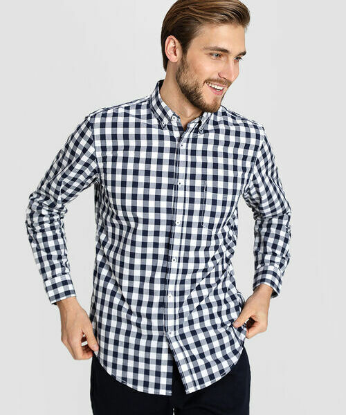 Фото - Рубашка в клетку Vichy рубашка greg greg mp002xm05sgb