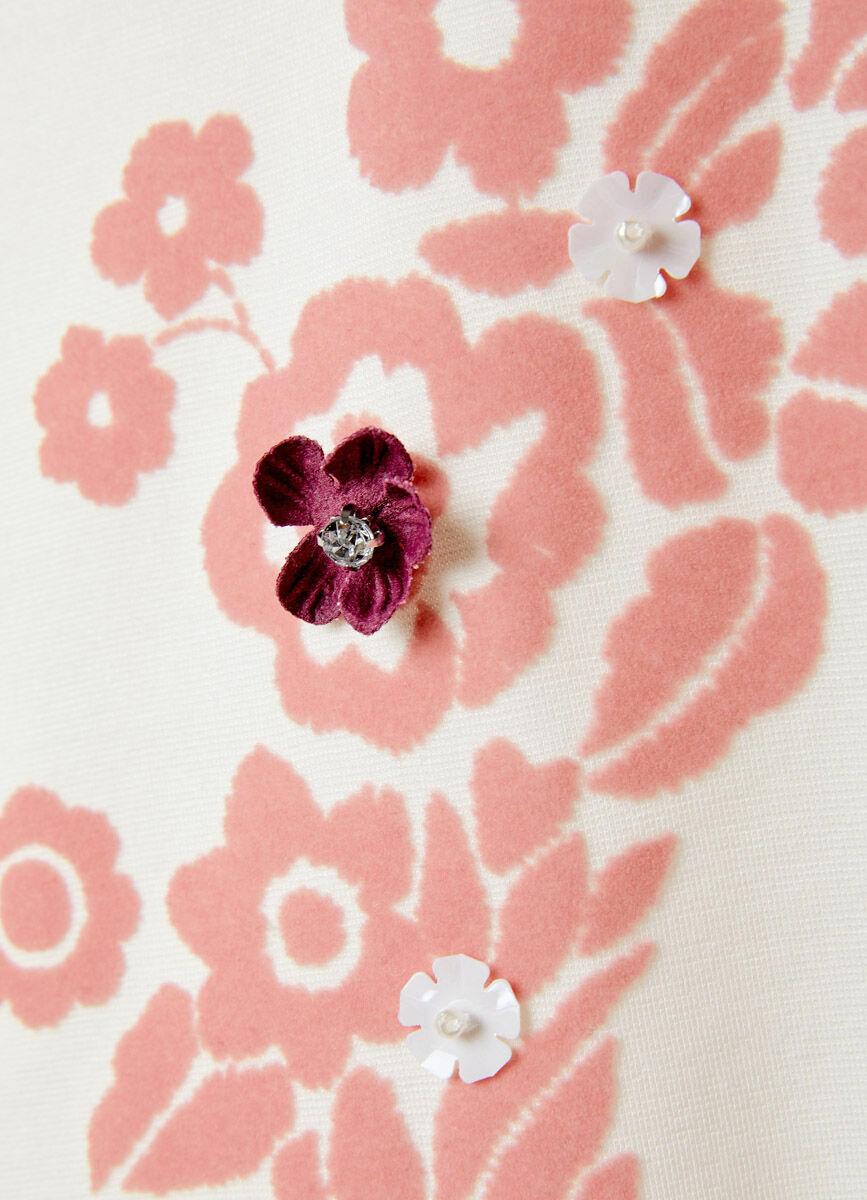 Толстовка с цветочным принтом