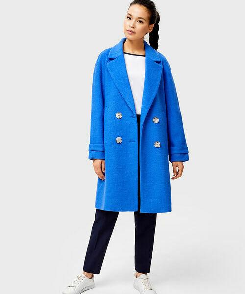 Пальто с содержанием шерсти из ткани букле