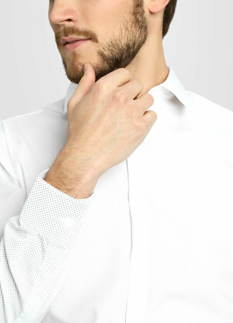 Базовая рубашка с точечным принтом