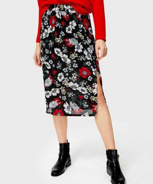 Юбка в цветочный принт ostin юбка в тропический принт
