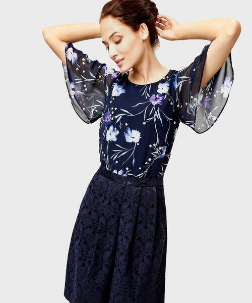 Блузка из шифона в цветочный принт O`Stin фото