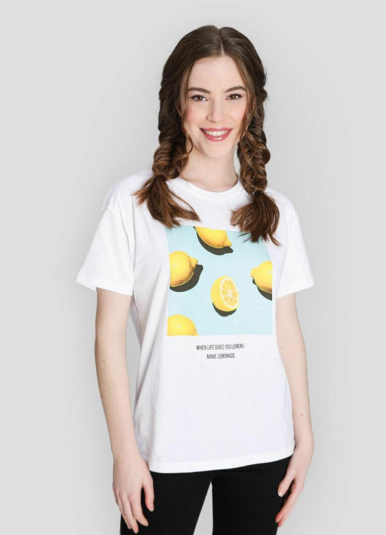 Футболка с принтом «лимоны»