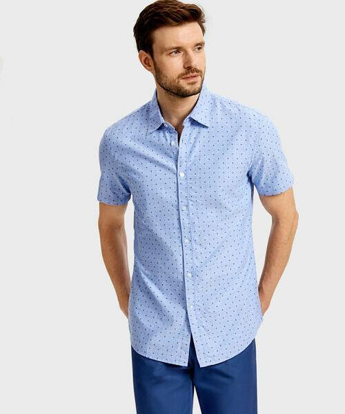 Рубашка из принтованного из хлопка рубашка из 100% хлопка