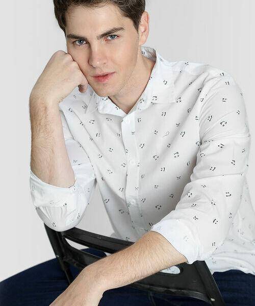 Фото - Рубашка из хлопка с принтом рубашка greg greg mp002xm05sgb