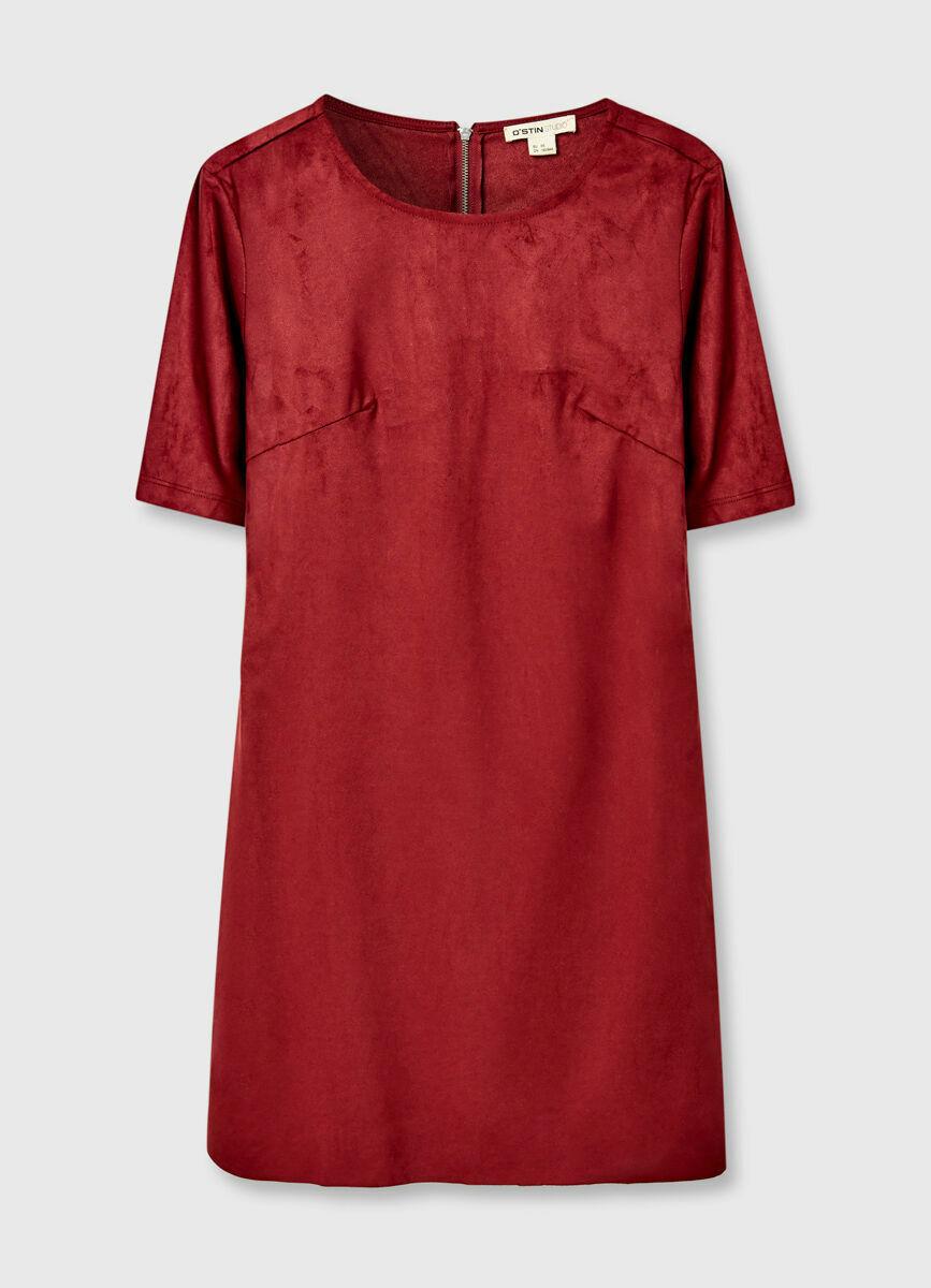Платье из искусственной замши