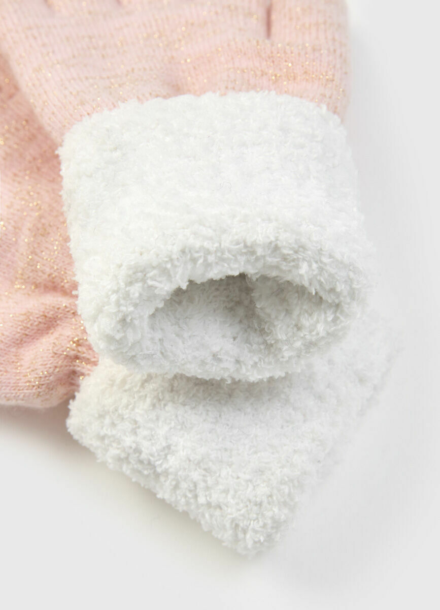 Трикотажные перчатки для девочек