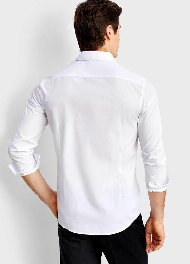 Рубашка из однотонного поплина