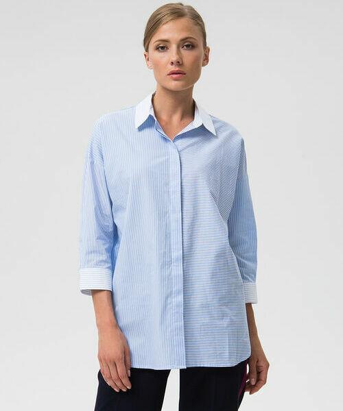 Фото - Объёмная рубашка из хлопка в полоску фото