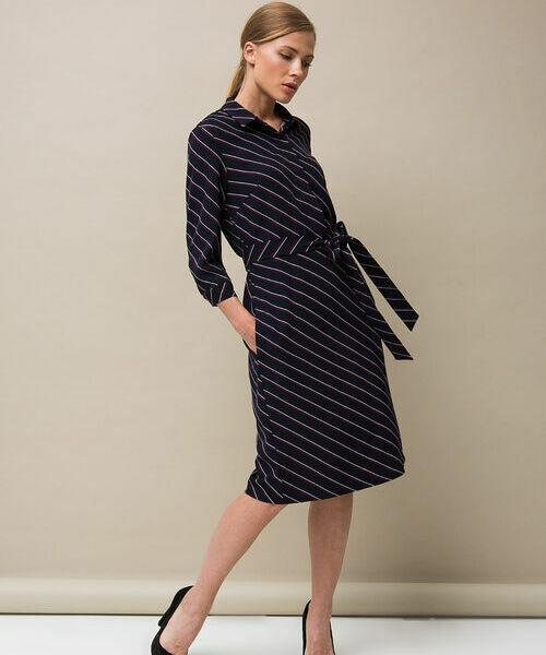Фото - Платье-рубашка в полоску фото