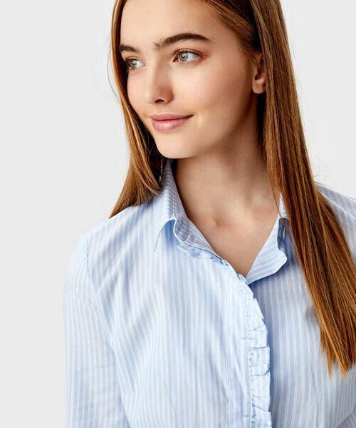 Фото - Рубашка с рюшей фото
