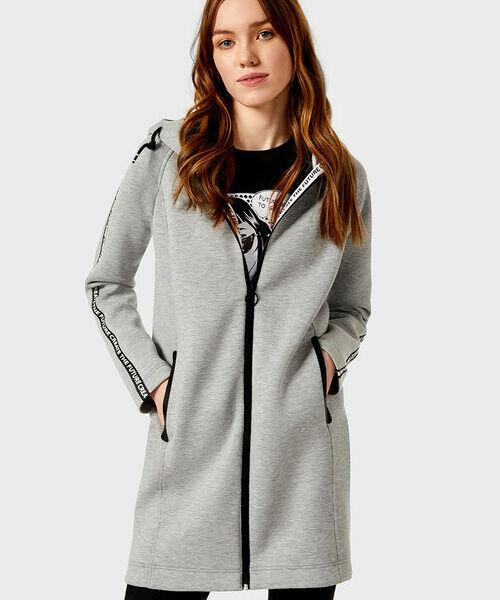 Пальто из неопрена с капюшоном