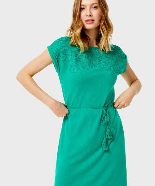 Платье с кружевом свободное платье в сочетании с кружевом chloah