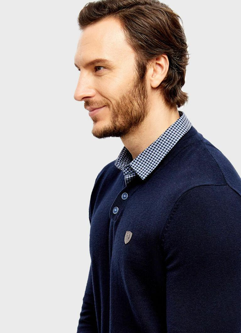 Джемпер с рубашкой