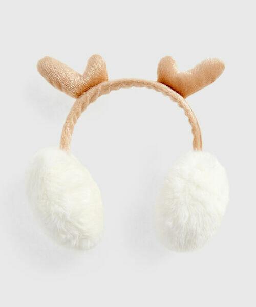 Меховые наушники «рога оленя» цена и фото