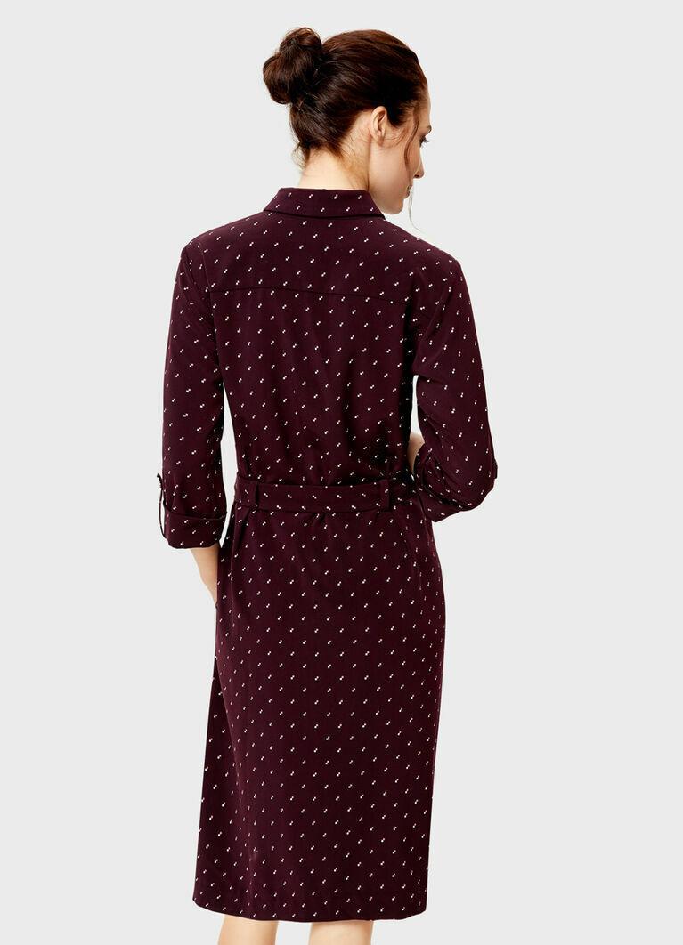 Платье-рубашка в микропринт