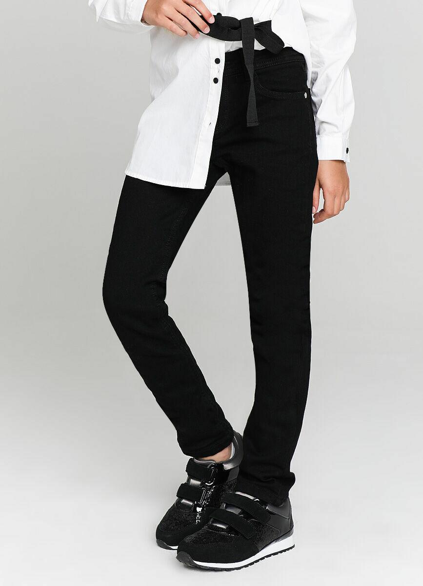 Базовые узкие джинсы на тонкой трикотажной подкладке