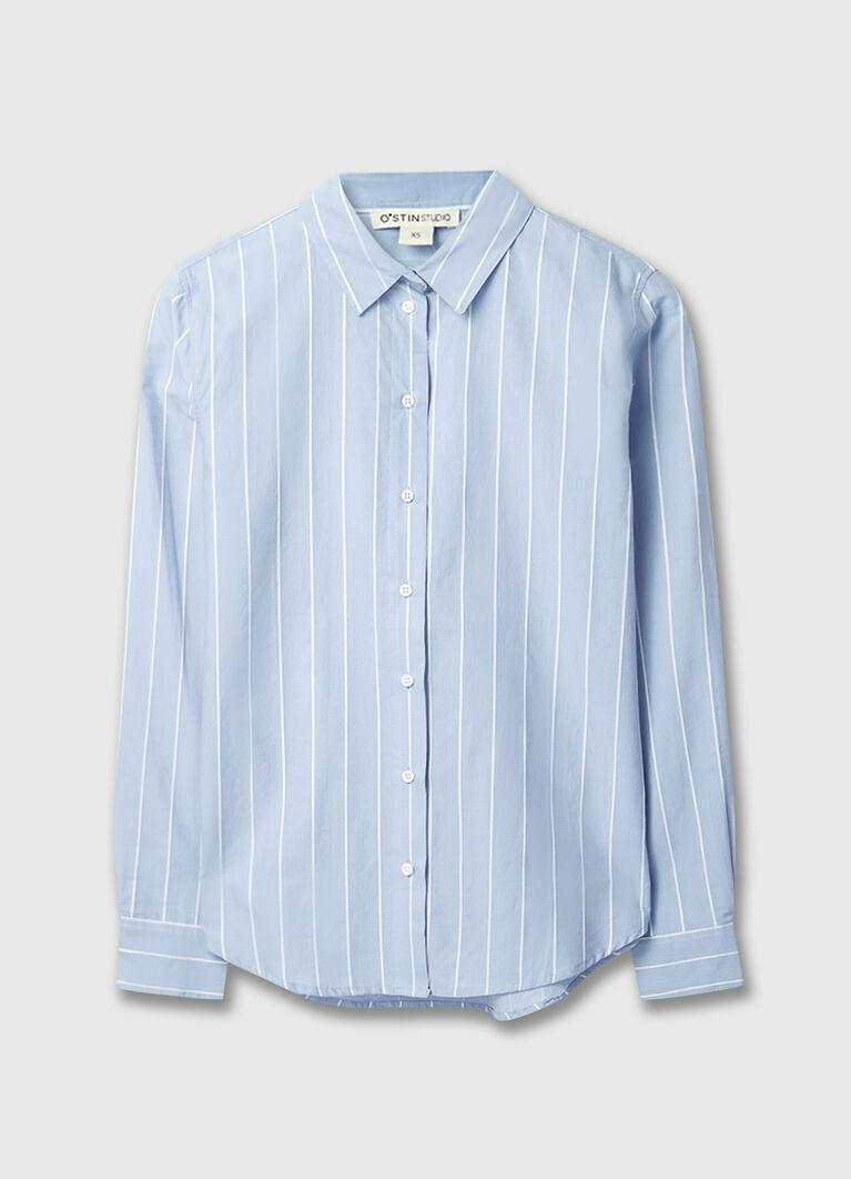 Рубашка в структурную полоску