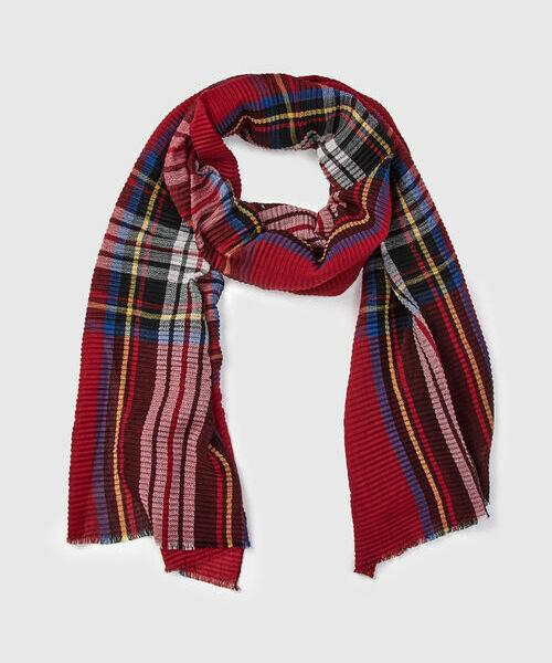 Плиссированный шарф в клетку шарф в клетку