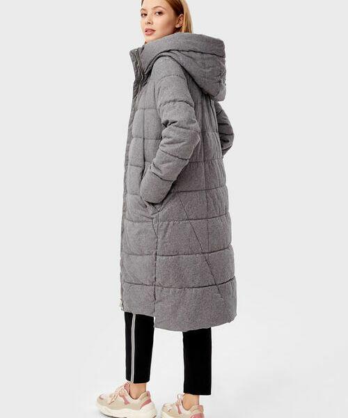 Фото - Длинное прямое пальто с капюшоном фото