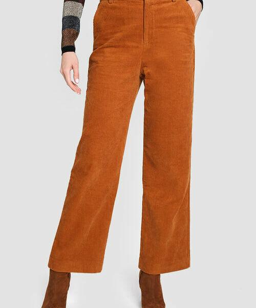 Широкие брюки из вельвета