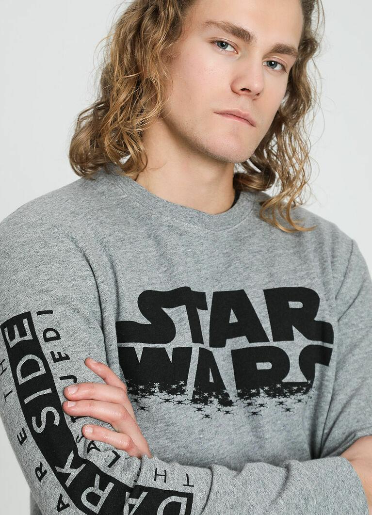 Кроёный джемпер c текстовым принтом Star Wars