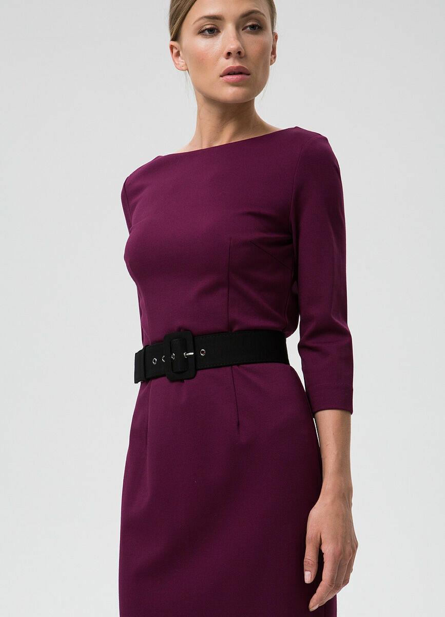 Кроёное платье-футляр