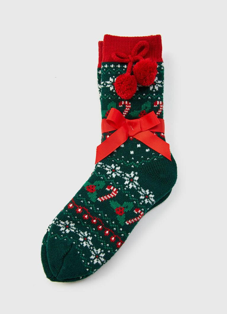 Носки с новогодним жаккардом
