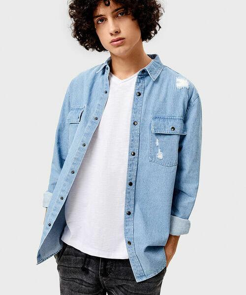 купить Джинсовая рубашка по цене 1299 рублей