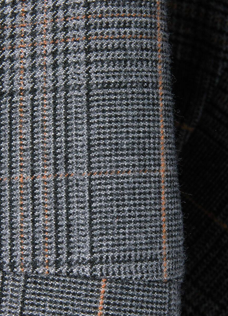Утеплённые брюки в клетку из поливискозы