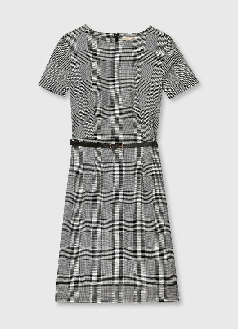 Платье-футляр в клетку
