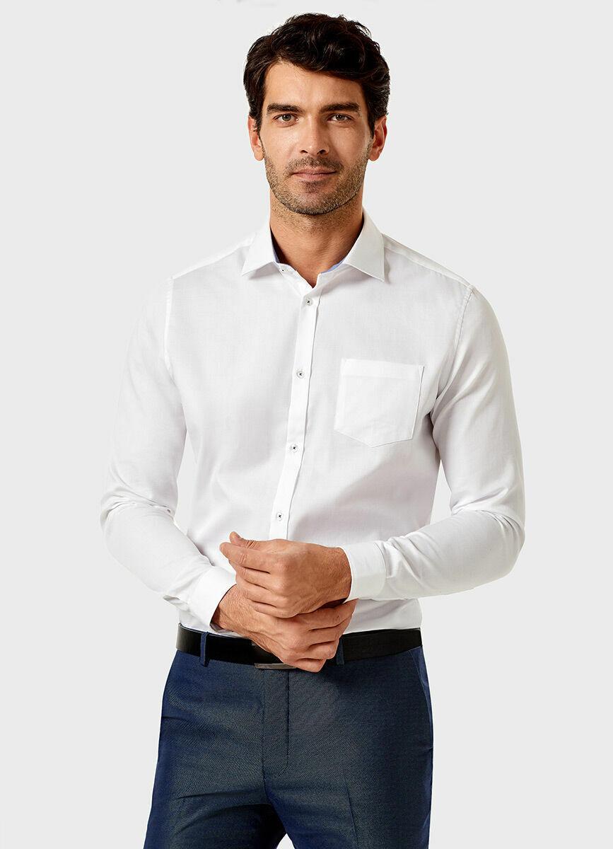 Рубашка из однотонной жаккардовой ткани