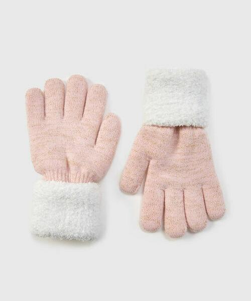 Трикотажные перчатки для девочек перчатки moschino