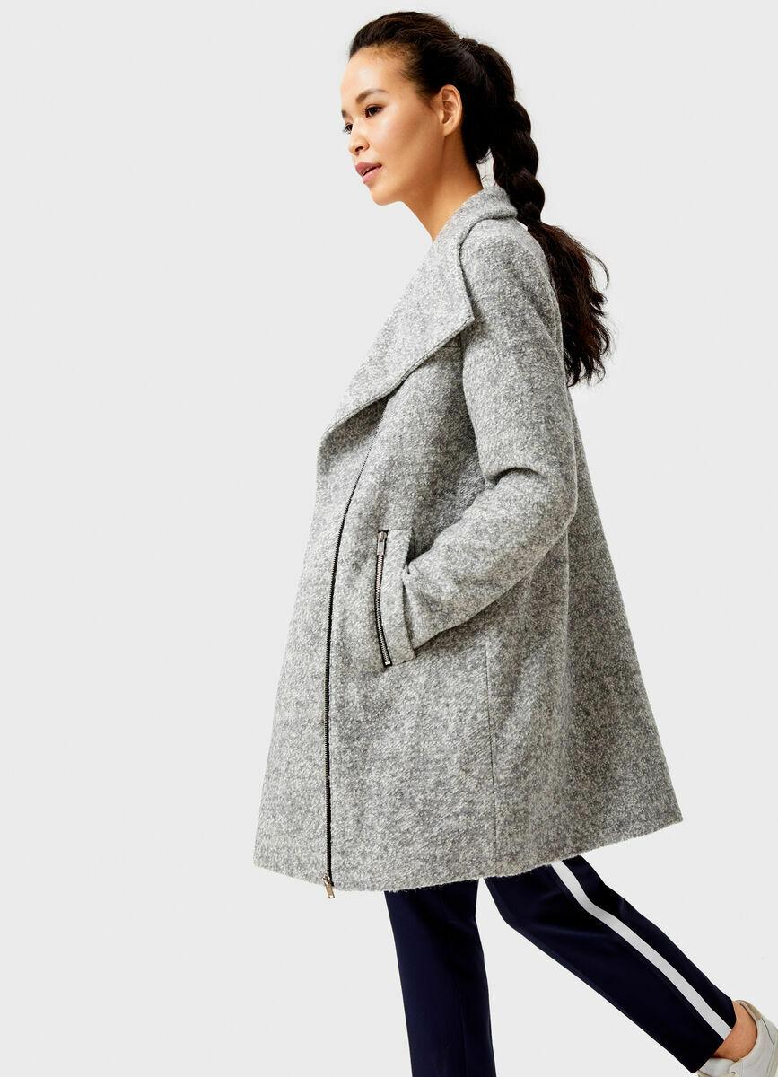 Пальто на молнии прямого силуэта