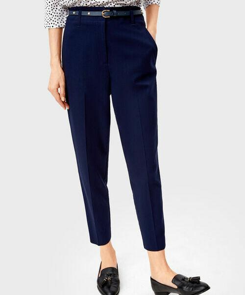 Фото - Зауженные брюки с поясом фото