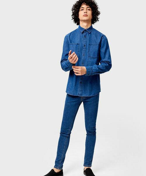 купить Базовая джинсовая рубашка по цене 1299 рублей