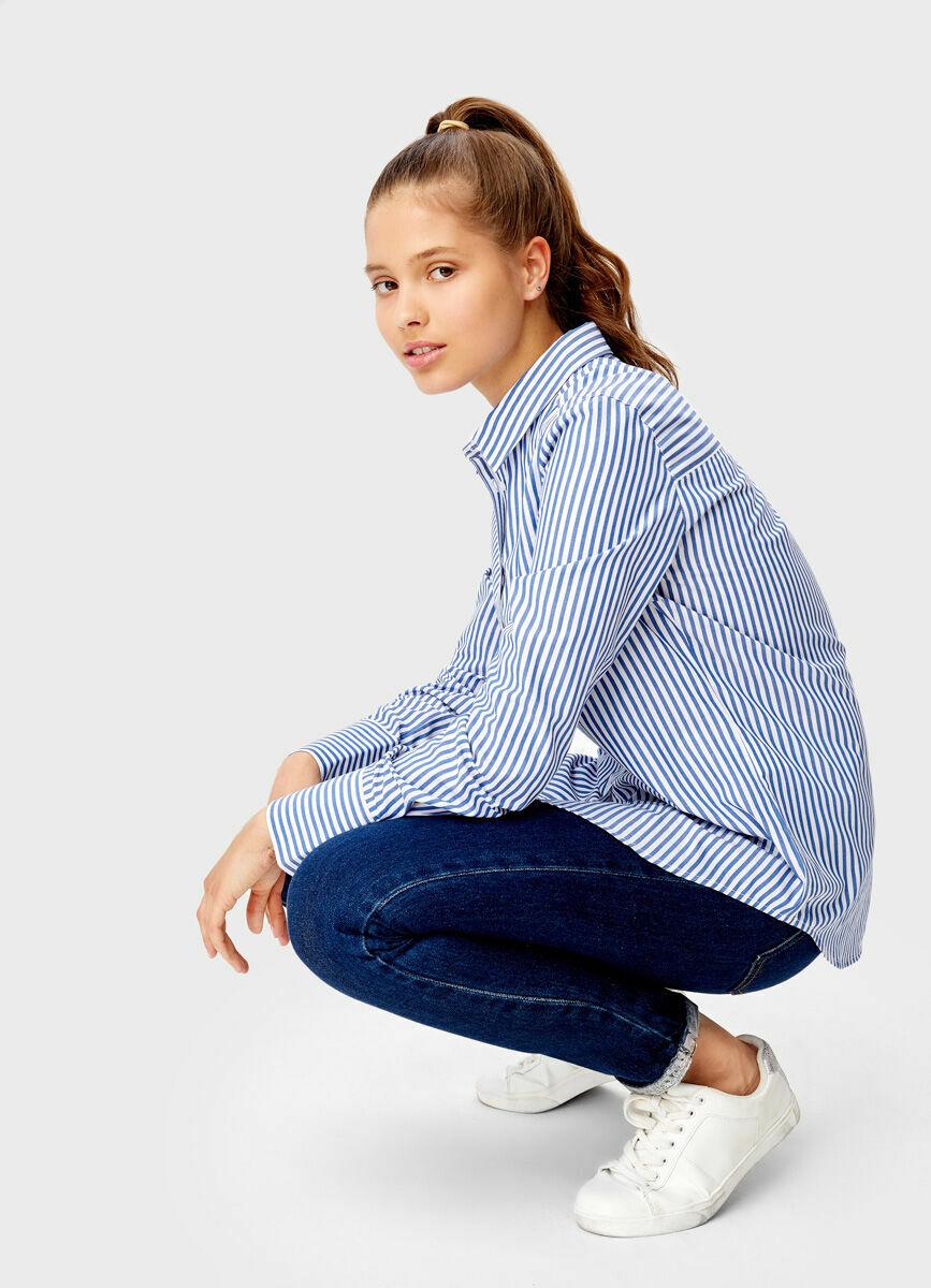 Рубашка в полоску с патчем