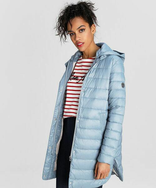 цена Трапециевидная ультралёгкая куртка с капюшоном онлайн в 2017 году