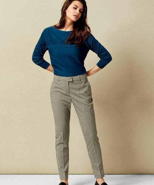 Фото - Поливискозные брюки в гусиную лапку фото
