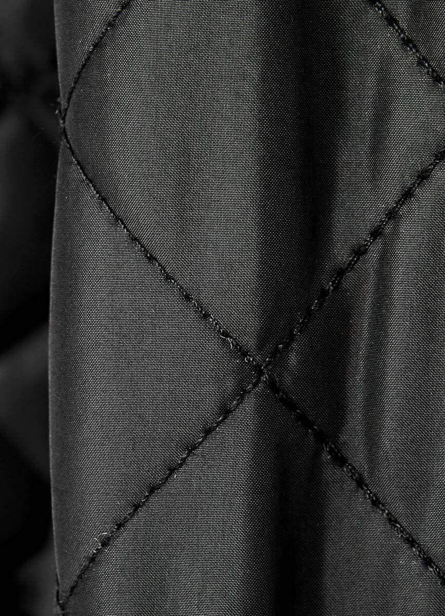 Стёганое пальто с воротником-стойкой